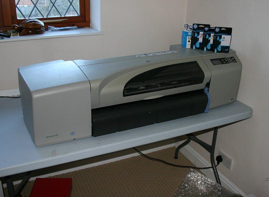 hp designjet 500 24 a1 large format canvas colour printer plotter ebay. Black Bedroom Furniture Sets. Home Design Ideas